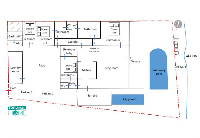 Villa Victoria Reunion Island - Plan
