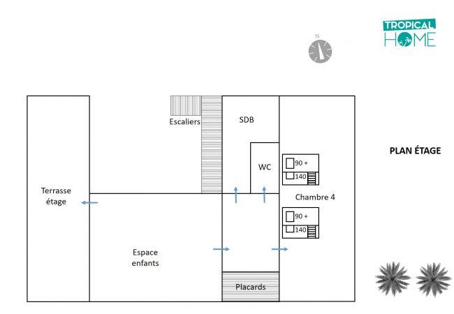 Plan de la villa les Aigrettes pour votre séjour à la réunion