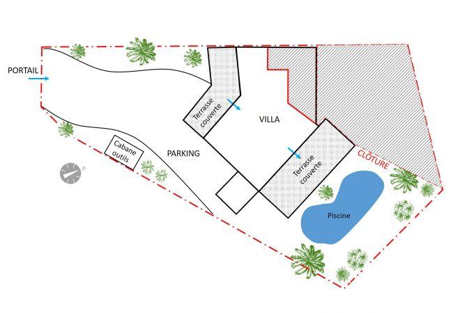 plan de votre location de vacances avec Tropical Home Réunion
