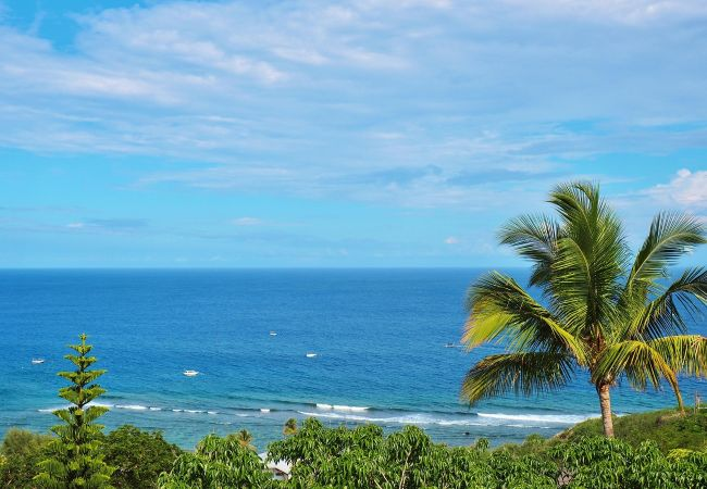 Vue panoramique sur l'océan indien à la villa Champagne