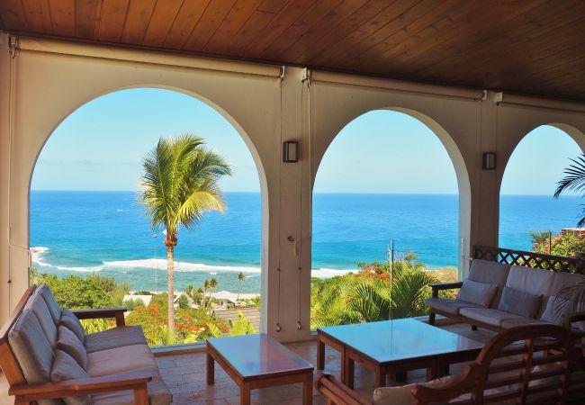 villa avec magnifique vue et piscine à la réunion