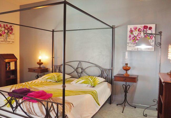 chambre de la villa champagne à louer sur tropical home réunion