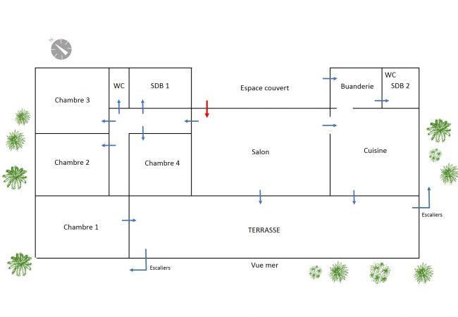Plan de la villa mado-ray pour un séjour à la réunion 974