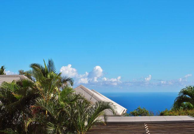 Magnifique vue depuis cette location maison à La Réunion