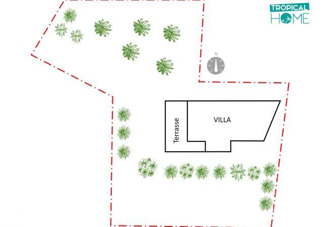 Plan de la propriété avec l'emplacement de la villa