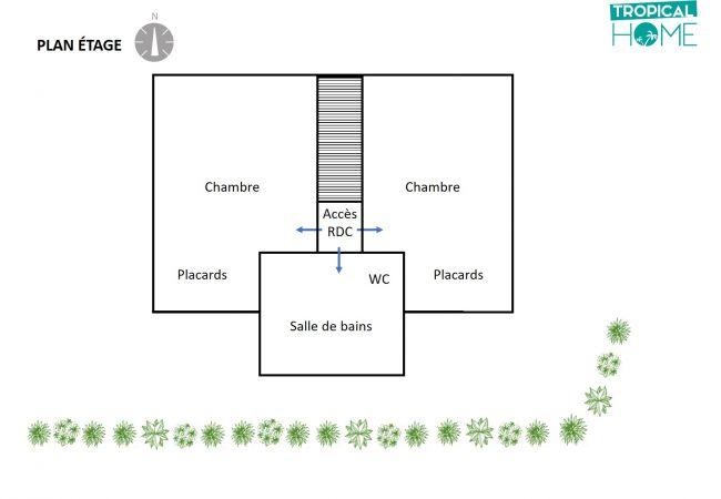 Plan de l'étage de la villa des Palmiers