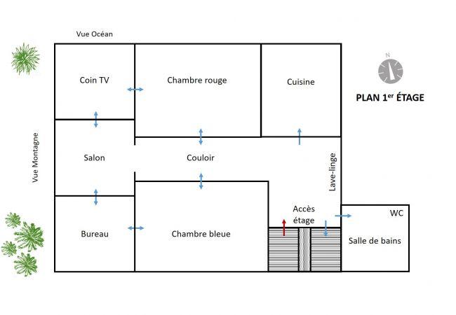 Plan de l'appartement Gasparin en plein centre-ville 97400