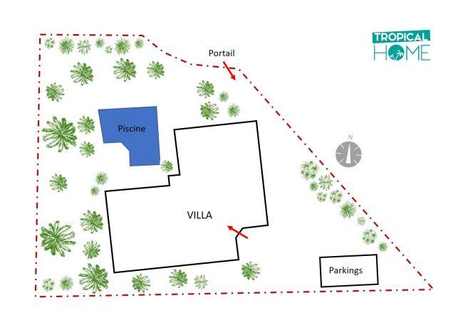 plan de location saisonnière avec Tropical Home Réunion