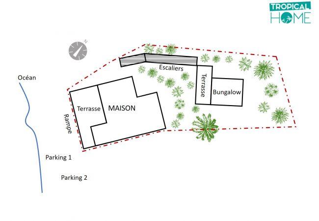 plan de cette maison de vacances par Tropical Home Réunion