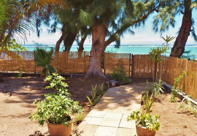 Maison devant plage et lagon à La Réunion