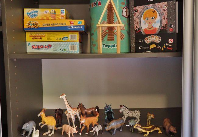 Maison famille avec de nombreux jeux à disposition