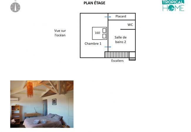 Plan de cette location saisonnière (étage)