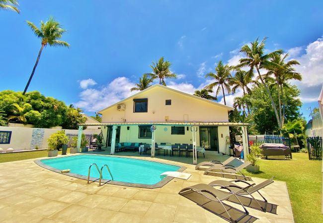 Villa Tropical Home avec piscine à 100 m du lagon