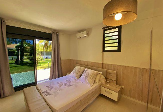 Une des chambres de la villa Evasion