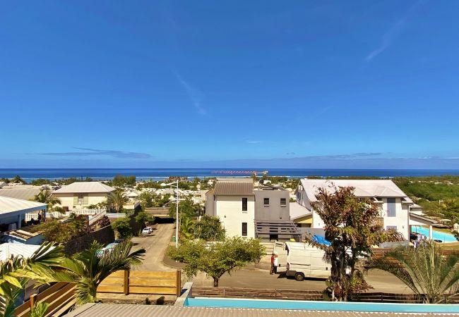 Belle vue océan à l'étage de la villa Vert Céladon