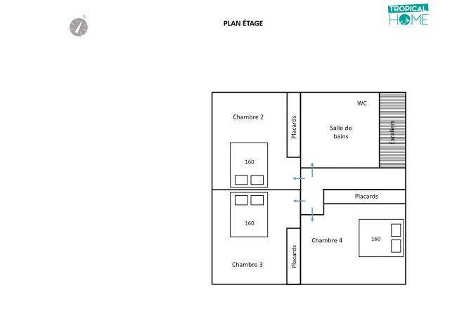 Plan de l'aménagement intérieur de l'étage